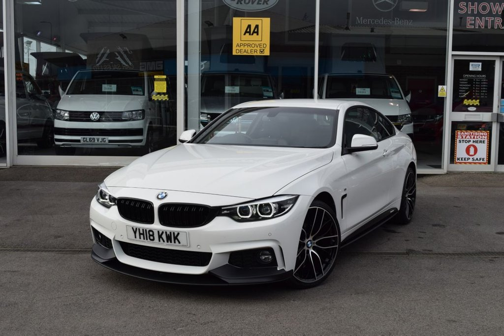 USED 2018 18 BMW 4 SERIES 2.0 420I XDRIVE M SPORT 2d 181 BHP FINANCE TODAY WITH NO DEPOSIT - SERVICED ON ARRIVAL