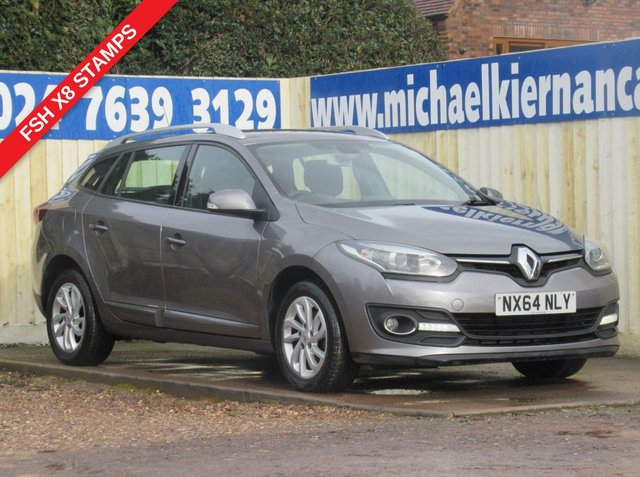 USED 2014 64 RENAULT MEGANE 1.5 DYNAMIQUE TOMTOM ENERGY DCI S/S 5d 110 BHP VERY CLEAN CAR