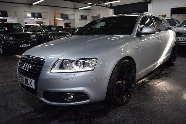 USED 2011 61 AUDI A6 AVANT 3.0 TDI S LINE QUATTRO 245 BHP ESTATE ULTRA RARE 3.0 TDI S LINE AVANT QUATTRO - 8 STAMPS TO 83K - LEATHER - NAV - HEATED SEATS - PRIVACY GLASS - 19 INCH ALLOY WHEELS