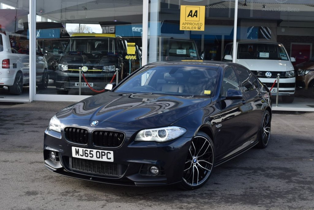USED 2015 65 BMW 5 SERIES 2.0 520D M SPORT 4d 188 BHP FINANCE TODAY WITH NO DEPOSIT - SERVICE HISTORY