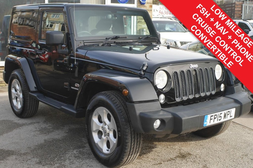 USED 2015 15 JEEP WRANGLER 2.8 CRD OVERLAND 2d AUTO 197 BHP CONVERTIBLE