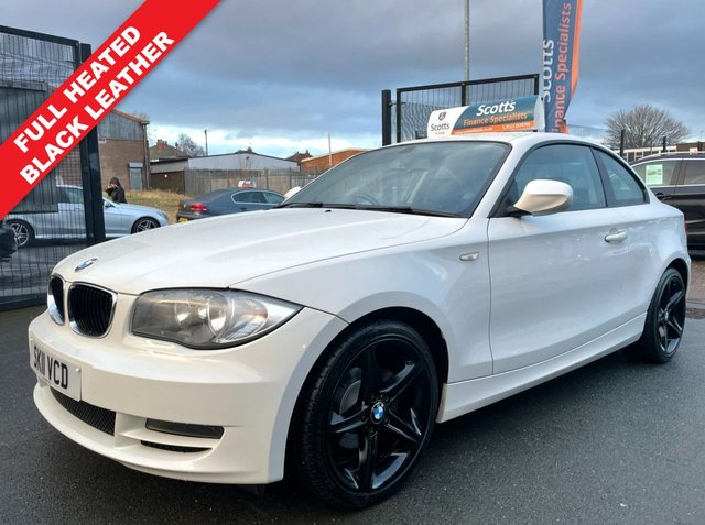 USED 2011 11 BMW 1 SERIES 2.0 118D SPORT 2 DOOR COUPE DIESEL WHITE LOW TAX FULL LEATHER