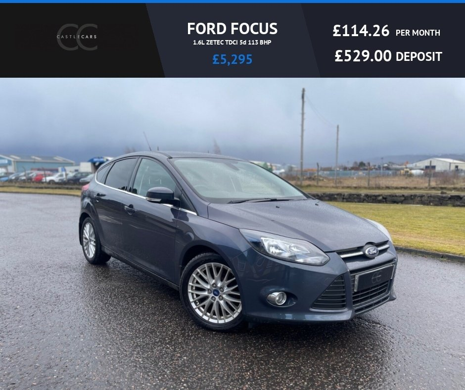 USED 2012 62 FORD FOCUS 1.6L ZETEC TDCI 5d 113 BHP