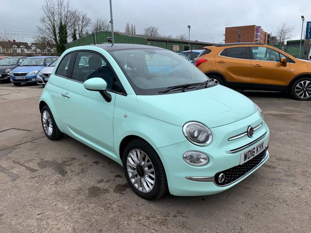 USED 2016 16 FIAT 500 1.2 LOUNGE 3d 69 BHP FULL SERVICE HISTORY