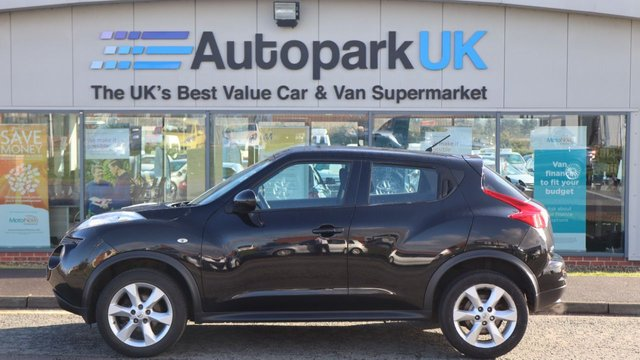 USED 2013 13 NISSAN JUKE 1.6 ACENTA 5d 117 BHP . LOW DEPOSIT OR NO DEPOSIT FINANCE AVAILABLE . COMES USABILITY INSPECTED WITH 30 DAYS USABILITY WARRANTY + LOW COST 12 MONTHS ESSENTIALS WARRANTY AVAILABLE FROM ONLY £199 (VANS AND 4X4 £299) DETAILS ON REQUEST. ALWAYS DRIVING DOWN PRICES . BUY WITH CONFIDENCE . OVER 1000 GENUINE GREAT REVIEWS OVER ALL PLATFORMS FROM GOOD HONEST CUSTOMERS YOU CAN TRUST .
