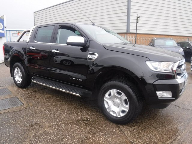 USED 2019 19 FORD RANGER 2.2 LIMITED 4X4 DCB TDCI 4d 158 BHP FORD WARRANTY UNTIL 31/08/2022*+VAT*1OWNER*LEATHER*A/C