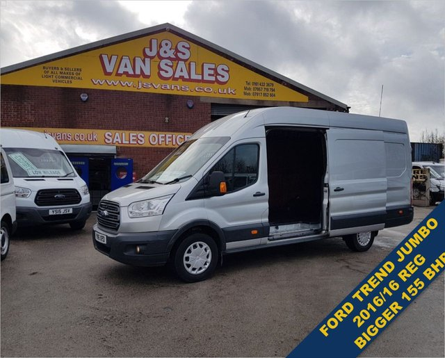 USED 2016 16 FORD TRANSIT T350 TREND 155 BHP JUMBO EXTRA L.W.B AIR CON BIG STOCK EURO 5/6 OVER VANS OVER 100 ON SITE