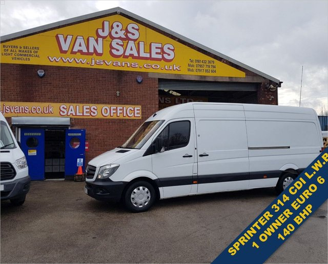 USED 2016 66 MERCEDES-BENZ SPRINTER  314CDI 140 BHP EURO 6 1 OWNER VAN 4 METER  BIG STOCK EURO 6 OVER VANS OVER 100 ON SITE
