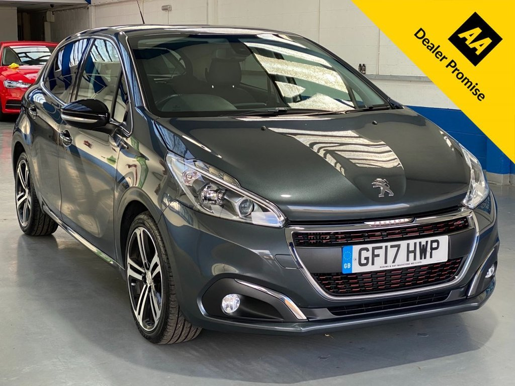 USED 2017 17 PEUGEOT 208 1.2 PURETECH S/S GT LINE 5d 110 BHP FULL SERVICE HISTORY---1 OWNER