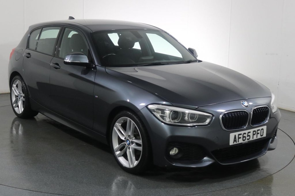 USED 2015 65 BMW 1 SERIES 2.0 118D M SPORT 5d 147 BHP SAT NAV I BLUETOOTH I £30 TAX