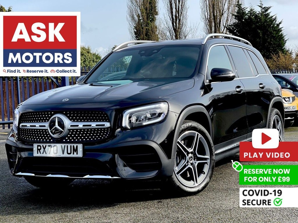 USED 2020 70 MERCEDES-BENZ GLB 2.0 GLB 220 D 4MATIC AMG LINE PREMIUM 5d 188 BHP 7 SEATER DIGITAL DISPLAY