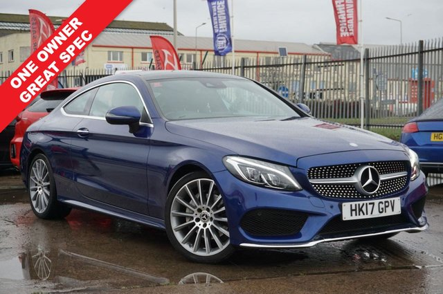 USED 2017 17 MERCEDES-BENZ C-CLASS 2.1 C 220 D AMG LINE PREMIUM 2d 168 BHP JUST ARRIVED GREAT SPEC ONE OWNER