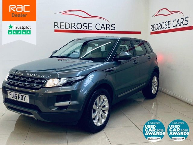 USED 2015 15 LAND ROVER RANGE ROVER EVOQUE 2.2 SD4 PURE 5d 190 BHP FULL SRVC, 2 KEYS, DAB