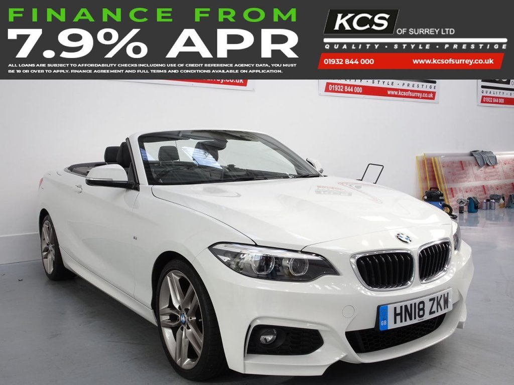 USED 2018 18 BMW 2 SERIES 2.0 218D M SPORT 2d 148 BHP SAT NAV - LEATHER - DAB