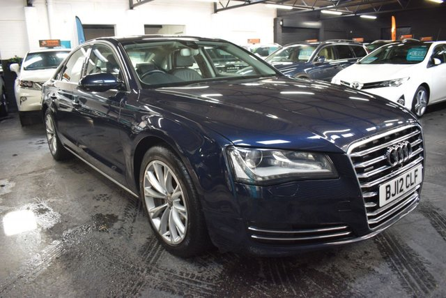 USED 2012 12 AUDI A8 3.0 TDI QUATTRO SE EXECUTIVE 4d 250 BHP LOVELY CONDITION - SE EXECUTIVE - NAPPA LEATHER - SAT NAV - HEATED SEATS - MEMORY SEATS - LED LIGHTS - POWER BOOT