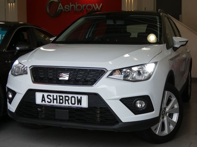 USED 2018 68 SEAT ARONA 1.0 TSI SE TECHNOLOGY 5d 115 S/S 1 OWNER, FULL SERVICE HISTORY, BALANCE OF SEAT WARRANTY, SAT NAV, WIRELESS PHONE CHARGER, FULL LINK FOR APPLE CARPLAY ANDROID AUTO & MIRROR LINK, DAB RADIO, BLUETOOTH PHONE & MUSIC STREAMING, FRONT ASSIST AMBIENT TRAFFIC MONITORING, MANUAL 6 SPEED, 17 INCH 10 SPOKE ALLOYS, REAR PARKING SENSORS WITH DISPLAY, LED DAYTIME RUNNING LIGHTS, AUTO LIGHTS, LEATHER MULTIFUNCTION STEERING WHEEL, CRUISE CONTROL & SPEED LIMITER, AIR CONDITIONING, AUX INPUT, 2x USB PORTS, CD PLAYER, SD CARD READERS, ISO FIX