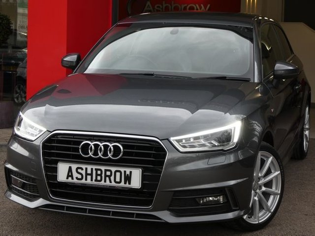 USED 2016 66 AUDI A1 1.4 TFSI S LINE 3d 125 S/S £1675 OF OPTIONAL EXTRAS, UPGRADE COMFORT PACK (REAR PARKING SENSORS, CRUISE CONTROL, AUTO DIMMING REAR VIEW MIRROR, RAIN & LIGHT SENSORS & HIGH BEAM ASSIST), UPGRADE PRIVACY GLASS, LED XENON LIGHTS, MANUAL 6 SPEED GEARBOX, 17 INCH 10 SPOKE ALLOYS, BLACK 1/2 LEATHER INTERIOR, SPORT SEATS, LEATHER MULTIFUNCTION STEERING WHEEL, AIR CONDITIONING, AUDI DRIVE SELECT, DAB RADIO, BLUETOOTH PHONE & MUSIC, AMI, ILLUMINATING VANITY MIRRORS, 1 OWNER FROM NEW, SERVICE HISTORY, £30 ROAD TAX (117 G/KM)