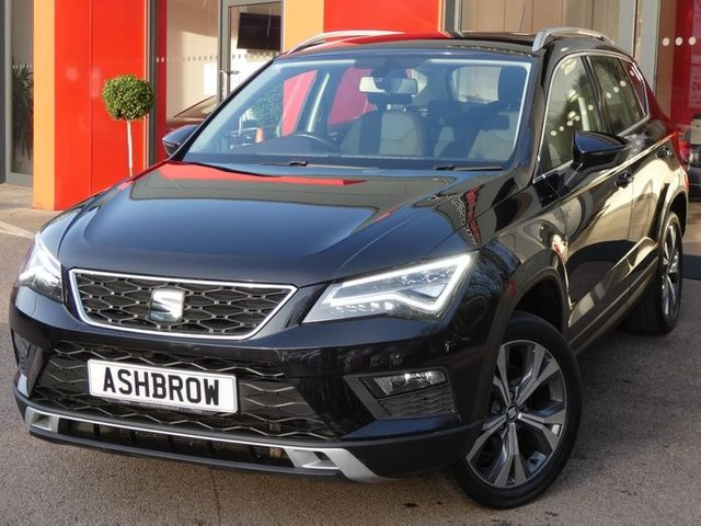 USED 2017 17 SEAT ATECA 2.0 TDI 4DRIVE SE TECHNOLOGY 5d 150 S/S 4X4, SAT NAV, FULL LINK FOR APPLE CARPLAY ANDROID AUTO & MIRROR LINK, SPEED LIMITER, 18 INCH ALLOY WHEELS, LED LIGHTS, FRONT ASSIST AMBIENT TRAFFIC MONITORING, REAR PARKING SENSORS WITH DISPLAY, DAB RADIO, BLUETOOTH PHONE & MUSIC STREAMING, VOICE CONTROL, CD HIFI WITH 2x SD CARD READERS, AUX INPUT, 2x USB PORTS, MANUAL 6 SPEED, ELECTRIC FOLDING HEATED DOOR MIRRORS, LEATHER FLAT BOTTOM MULTIFUNCTION STEERING WHEEL, DUAL CLIMATE AIR CON, AUTO HILL HOLD, DRIVING MODE SELECT, VAT QUALIFYING