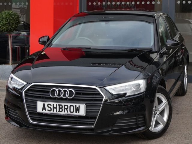 USED 2017 17 AUDI A3 SPORTBACK 1.0 TFSI SE 5d 115 S/S FULL SERVICE HISTORY, 1 OWNER FROM NEW, UPGRADE SAT NAV, REAR ACOUSTIC PARKING SENSORS, BI-XENON HEADLIGHTS WITH LED DAYTIME RUNNING LIGHTS & HEADLAMP WASHERS, CRUISE CONTROL, DAB RADIO, BLUETOOTH WITH AUDIO STREAMING, AUDI SMART PHONE INTERFACE FOR APPLE CARPLAY / ANDROID AUTO, USB PORTS x2 + AUX INPUT, WIFI / WLAN PLAYER, SD CARD READER x2, MANUAL 6 SPEED, AIR CONDITIONING, LEATHER MULTIFUNCTION STEERING WHEEL, AUTO LIGHTS & WIPERS, ISO FIX, VAT QUALIFYING
