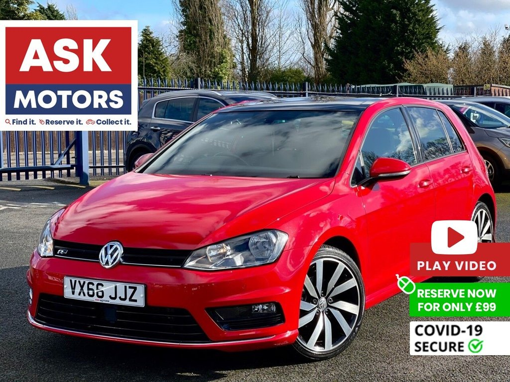 USED 2016 66 VOLKSWAGEN GOLF 2.0 R LINE EDITION TDI BLUEMOTION TECHNOLOGY 5d 148 BHP PANORAMIC ROOF SATNAV PARK PILOT