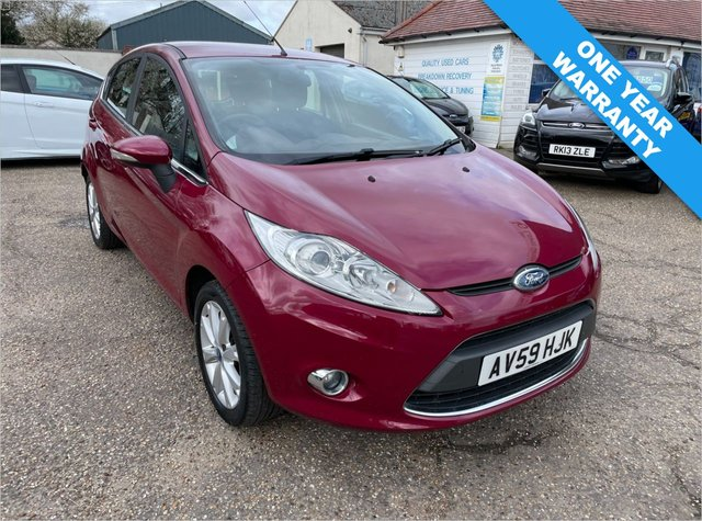 USED 2009 59 FORD FIESTA 1.2 ZETEC 5d 81 BHP ONE YEAR WARRANTY INCLUDED / VOICE COMMS