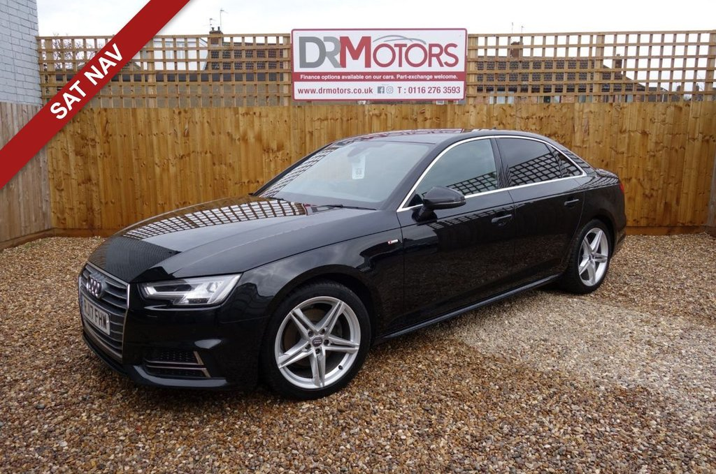 USED 2017 17 AUDI A4 2.0 TFSI S LINE 4d 188 BHP *** 6 MONTHS NATIONWIDE GOLD WARRANTY ***