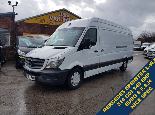 USED 2017 67 MERCEDES-BENZ SPRINTER  314CDI 140 BHP L.W.B HI ROOF EURO 6 1 OWNER  BIG STOCK EURO 6 OVER VANS OVER 100 ON SITE