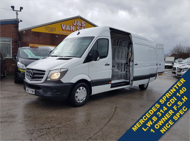 USED 2017 67 MERCEDES-BENZ SPRINTER 314CDI 140 BHP 1 OWNER DIRECT BENZS EURO 6 BIG STOCK OF EURO 6 SPRINTER VANS ALL MODELS