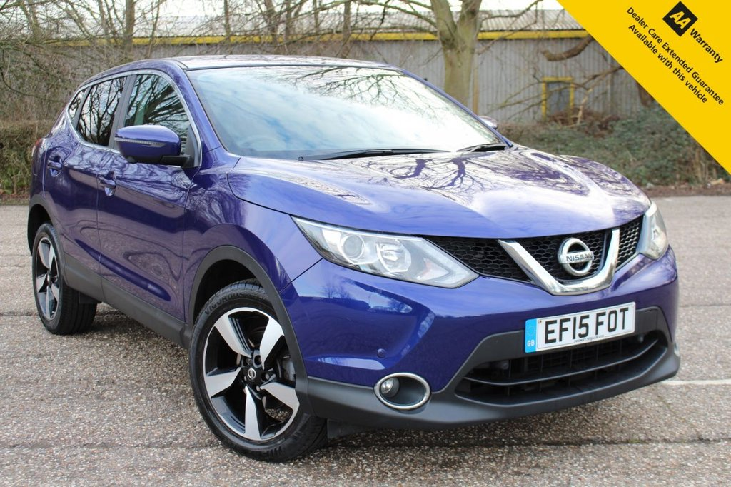 USED 2015 15 NISSAN QASHQAI 1.5 DCI N-TEC 5d 108 BHP ** FULL SERVICE HITORY ** LONG ADVISORY FREE MOT - DECEMBER 2021 ** SAT NAV ** 360 PARKING CAMERAS ** FRONT + REAR PARKING AID ** CRUISE CONTROL ** BLUETOOTH + USB ** DAB RADIO ** CLIMATE CONTROL ** LANE DEPARTURE WARNING SYSTEM ** £0 ROAD TAX + 74MPG AVERAGE ** CLICK & COLLECT + NATIONWIDE DELIVERY AVAILABLE ** BUY ONLINE IN CONFIDENCE FROM A MULTI AWARD WINNING 5* RATED DEALER **