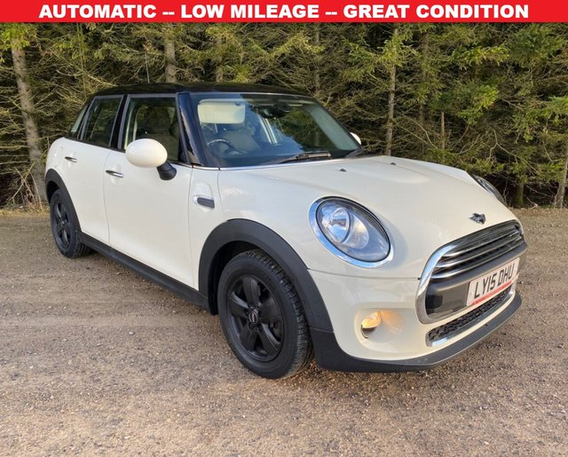USED 2015 15 MINI HATCH ONE 1.2 ONE AUTOMATIC 5d 101 BHP AUTOMATIC -- LOW MILEAGE -- GREAT CONDITION