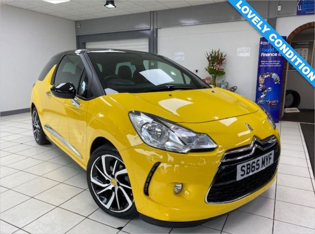 USED 2015 65 DS DS 3 1.6 BLUEHDI DSTYLE NAV S/S 3d 98 BHP SPORT YELLOW / BLACK ROOF / BLUETOOTH / SATNAV