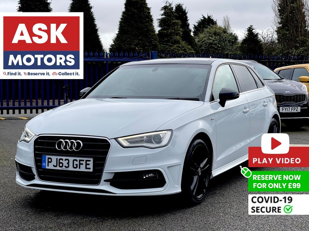 USED 2013 63 AUDI A3 1.6 TDI S LINE 5d 104 BHP SLIDING PANORAMIC ROOF SATNAV HIGH SPEC