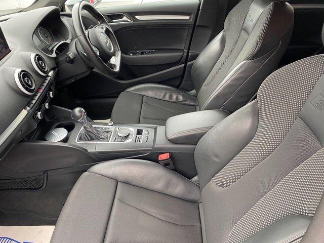 """USED 2016 16 AUDI A3 1.6 TDI S LINE NAV 4d 109 BHP AUTO 18""""Grey Alloys"""