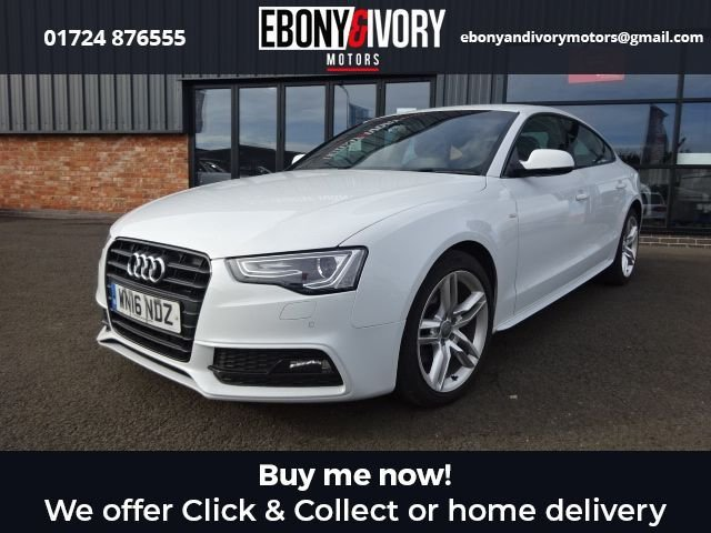 USED 2016 16 AUDI A5 2.0 TDI S LINE 5d 187 BHP+SAT NAV+BLUETOOTH+LEATHER+CRUISE CONTROL+HEATED SEATS FANTASTIC EXAMPLE+MASSIVE FACTORY SPECIFICATION+FULL AUDI HISTORY