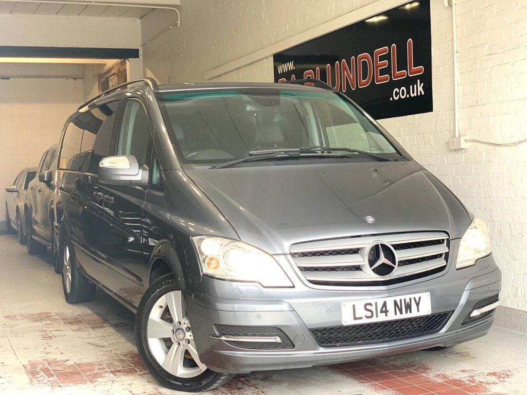 USED 2014 14 MERCEDES-BENZ VIANO 3.0 122 CDI BLUEEFFICENCY AMBIENTE 5d 224 BHP REAR DVD PLAYER+COMMAND+8 SEAT