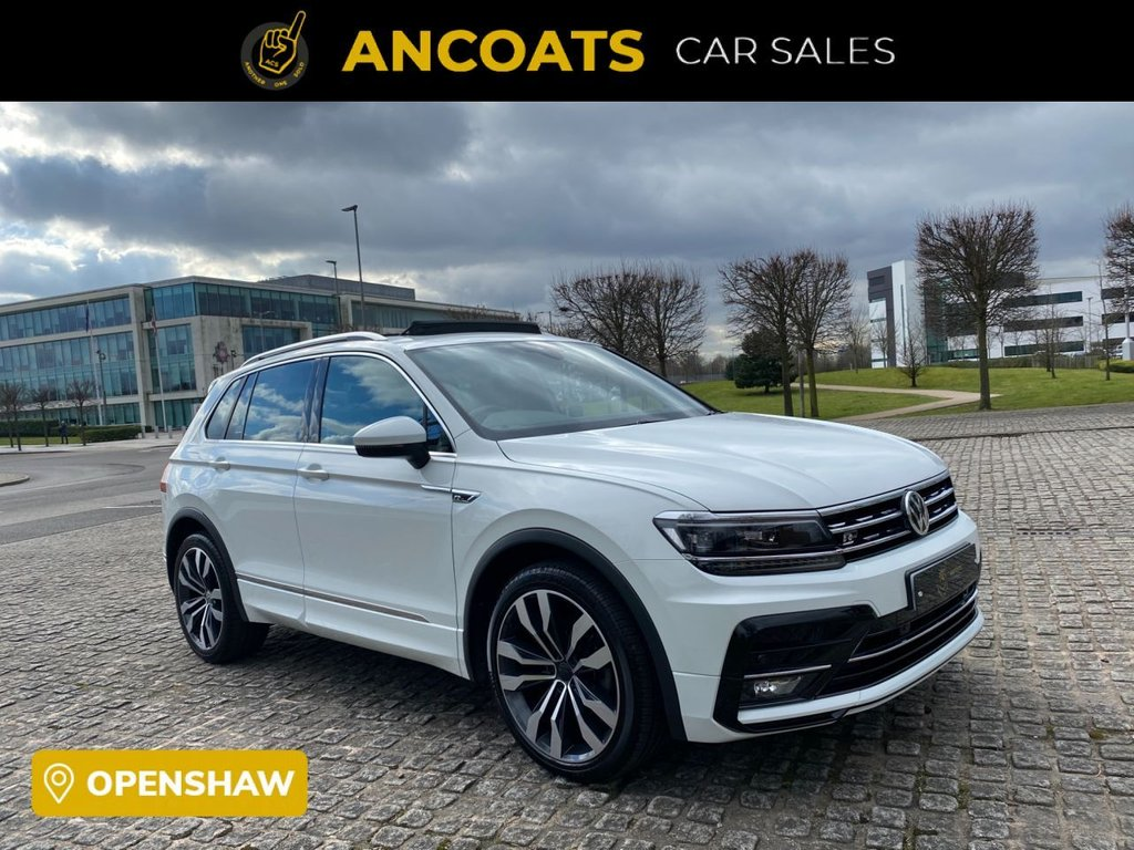 USED 2018 68 VOLKSWAGEN TIGUAN 2.0 R-LINE TDI 4MOTION DSG 5d AUTO 148 BHP 1 Owner From New+Finance Available+PCP+ Panoramic Roof+Half Heated Leather+Mot+Xenon Light+Service History+2 Keys+Mot+ Nationwide Delivery+Nationwide Warranty+Rear Parking Sensors+Sat-Nav+Bluetooth