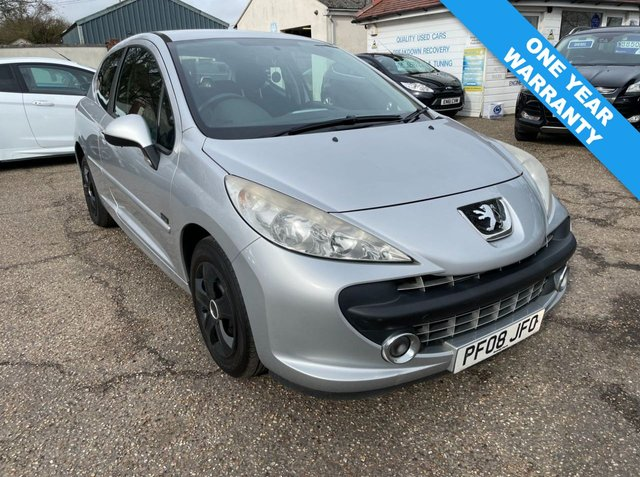 USED 2008 08 PEUGEOT 207 1.4 MPLAY 3d 73 BHP ONE YEAR WARRANTY INCLUDED