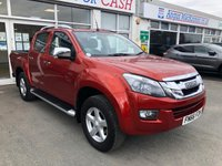 USED 2016 66 ISUZU D-MAX 2.5 TD UTAH VISION 4dr 5 Seat Double Cab Pickup. Recent Service & MOT. Now Ready to Finance and Drive Away Today.  1 Former Keeper