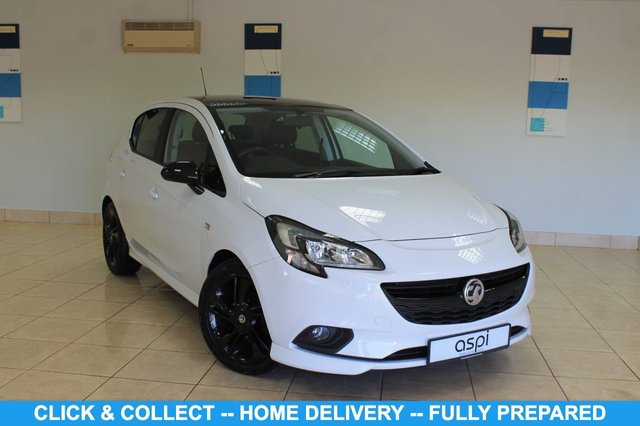 """USED 2016 16 VAUXHALL CORSA 1.4 LIMITED EDITION ECOFLEX 5d 89 BHP BLACK INTERIOR WITH RED & WHITE STITCHING, AIR CON, BLUETOOTH, BLACK ROOF, MULTI FUNCTION STEERING WHEEL, ONSTAR WIFI, VOICE ACTIVATION, CRUISE CONTROL, 17"""" BLACK ALLOY WHEELS,  BLACK MIRROR CAPS, REAR PRIVACY GLASS, ISOFIX, USB PORT, DAB RADIO/C.D., ONE OWNER"""