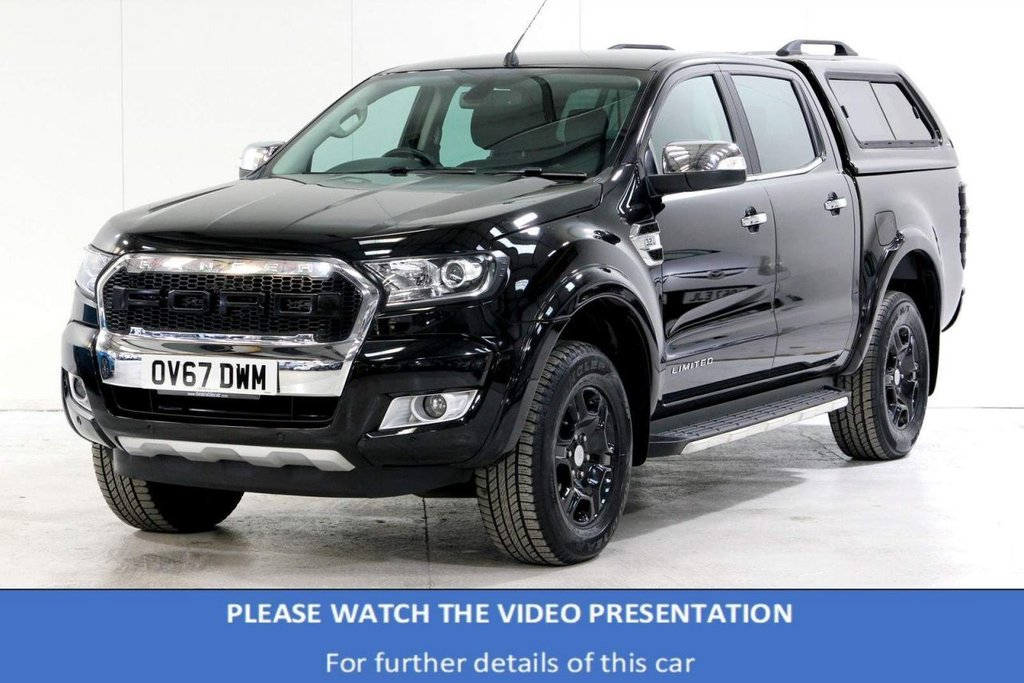 USED 2017 67 FORD RANGER 3.2 TDCi Limited 1 Double Cab Pickup Auto 4WD 4dr £21987+VAT*BIG SPEC £5K EXTRAS