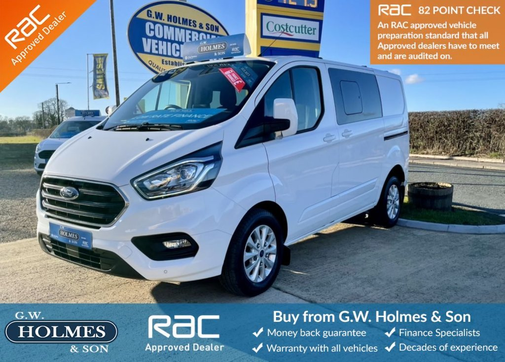 USED 2020 20 FORD TRANSIT CUSTOM LIMITED 2.0 TDCI 300 170 BHP DCIV CREW CAB L1 H1  **AUTOMATIC**CHOICE AVAILABLE**