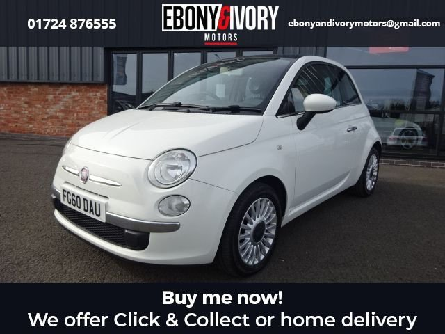 USED 2010 60 FIAT 500 1.2 LOUNGE 3d 69 BHP + FULL SERVICE HISTORY + 1 YEAR MOT AND BREAKDOWN COVER