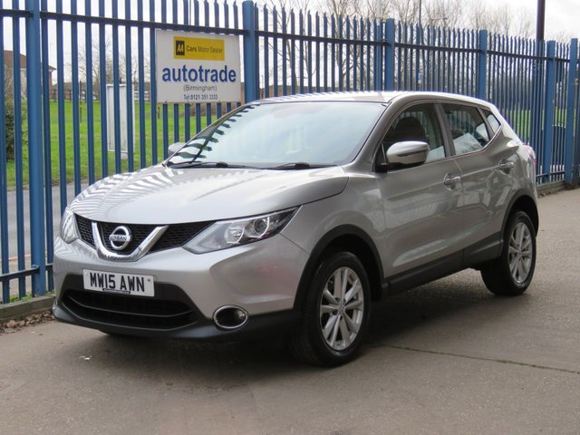 USED 2015 15 NISSAN QASHQAI 1.5 DCI ACENTA 5d 108 BHP £0 Road -Tax-Service History- Air Conditioning-Cruise Control