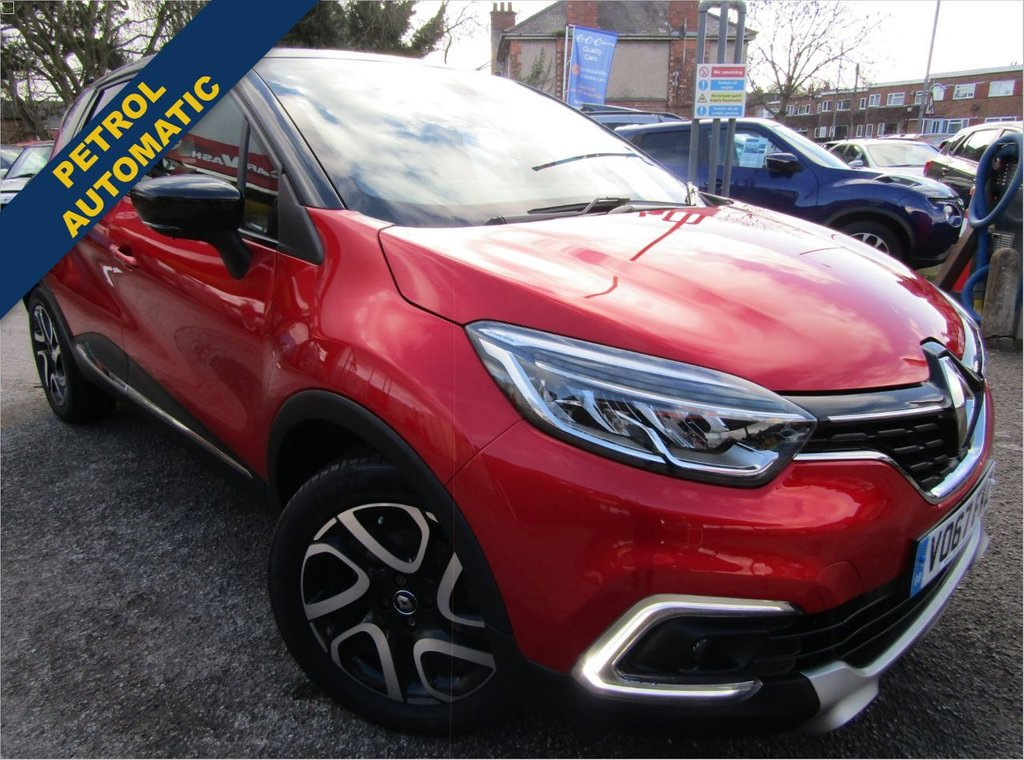 USED 2017 67 RENAULT CAPTUR 1.2 DYNAMIQUE S NAV TCE 5d 117 BHP AUTOMATIC A ONE OWNER CAR , EX MOTABILITY WITH A  FULL SERVICE HISTORY,, GREAT SPEC CAR COMES WITH, REAR PARKING SENSORS, BLUETOOTH, POWER FOLDING MIRRORS AND MUCH MORE, GREAT HIGHER DRIVING POSITION FOR EASY ACCESS,
