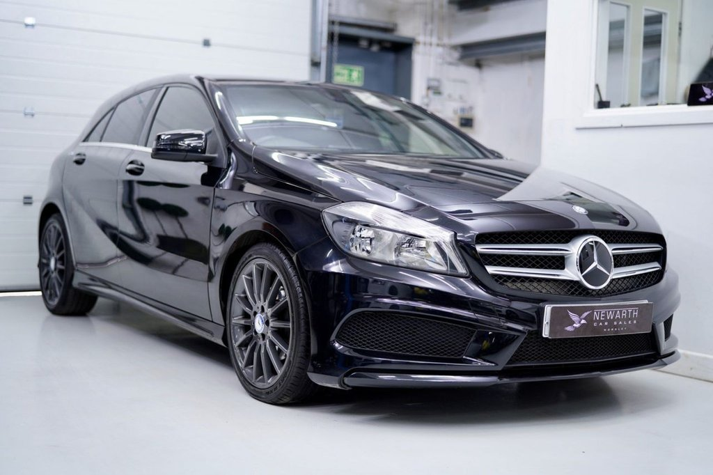 USED 2014 63 MERCEDES-BENZ A-CLASS 1.8 A200 CDI BlueEFFICIENCY AMG Sport 5dr Black | Black| Graphite Grey