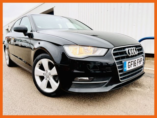 USED 2016 16 AUDI A3 1.4 TFSI SPORT NAV 5d 124 BHP FULL AUDI HISTORY - S-TRONIC GEARBOX - 12 MONTH MOT - SATELLITE NAVIGATION - REAR PARKING SENSORS - BLUETOOTH CONNECTIVITY - 2 KEYS