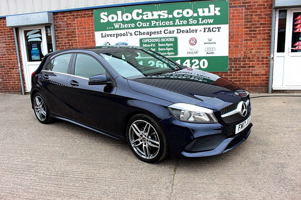 USED 2017 17 MERCEDES-BENZ A-CLASS 1.5 A 180 D AMG LINE 5d AUTO 107 BHP +ONE OWNER +REVERSE CAM +NAV.