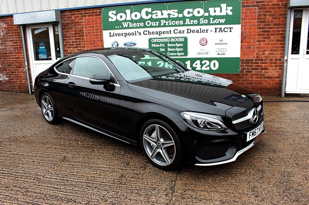 USED 2018 67 MERCEDES-BENZ C-CLASS 2.1 C 220 D AMG LINE 2d AUTO 168 BHP +LEATHER +SAT NAV +CAMERA.
