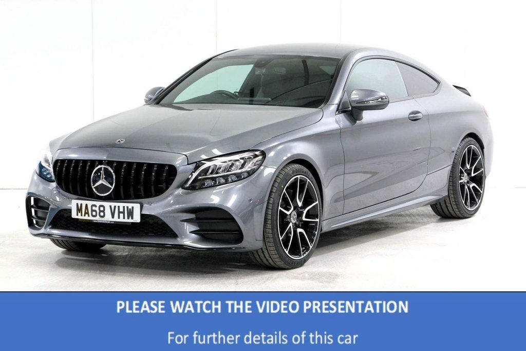 USED 2018 68 MERCEDES-BENZ C-CLASS 1.5 C200 EQ Boost AMG Line G-Tronic+ (s/s) 2dr REAR CAM*BLACK PACK*19' ALLOYS