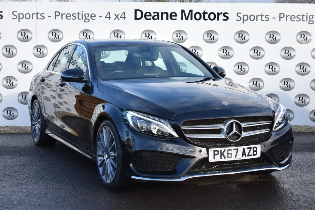 USED 2017 67 MERCEDES-BENZ C-CLASS 1.6 C200 D AMG LINE 4d 136 BHP 19 IN ALLOYS